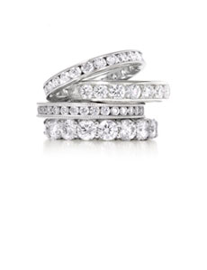 18ct White Gold Diamond Bands